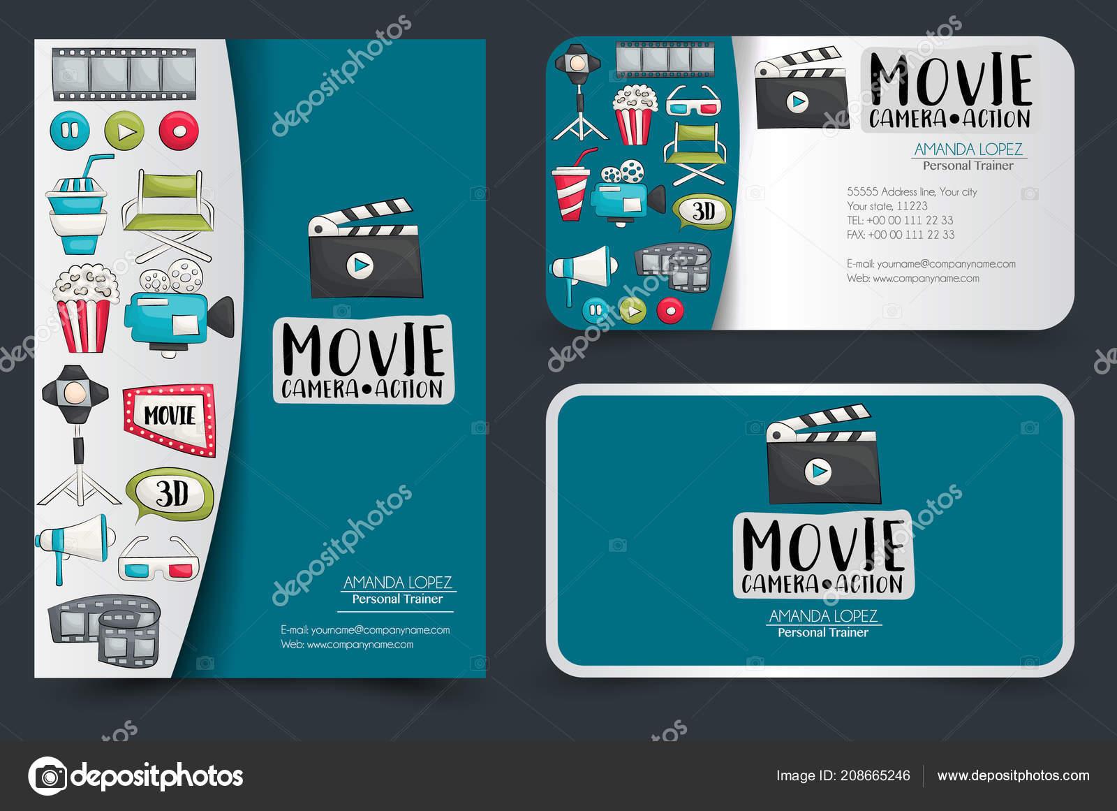 Film Kino Corporate Identity Design Gesetzt Flyer Und