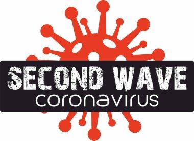 Second wave of Coronavirus, graphic icon and symbol
