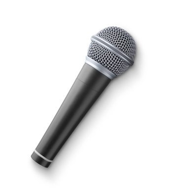 Microphone isolated on white background stock vector