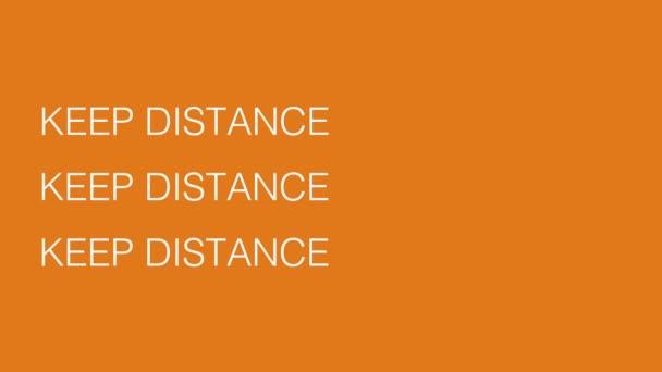 Halten Sie Abstand Text 2D Video Animation der Ansteckungsnachricht für Coronavirus Covid-19. Soziale Distanzierung, Gesundheitsversorgung. Ausbreitung der Pandemie.