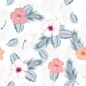 vektor zökkenőmentes gyönyörű művészi fényes trópusi minta egzotikus erdőben. Színes eredeti stílusos virágos háttér nyomtatás, fényes .on fehér háttér.