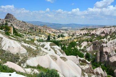 Goreme national park. Rocks in Cappadocia, beautiful landscape. Turkey