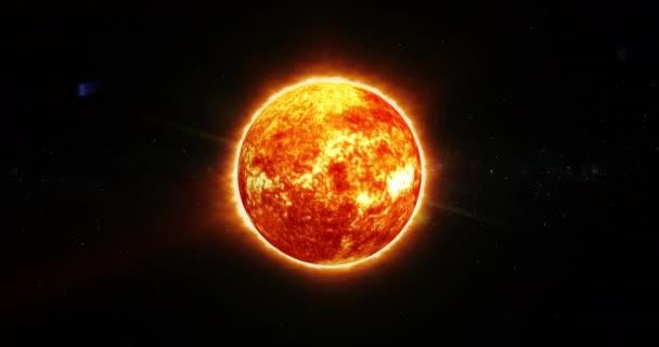 3D Animation der Sonne mit Sonnenwind und koronalem Massenauswurf in 4k uhd und loopeable