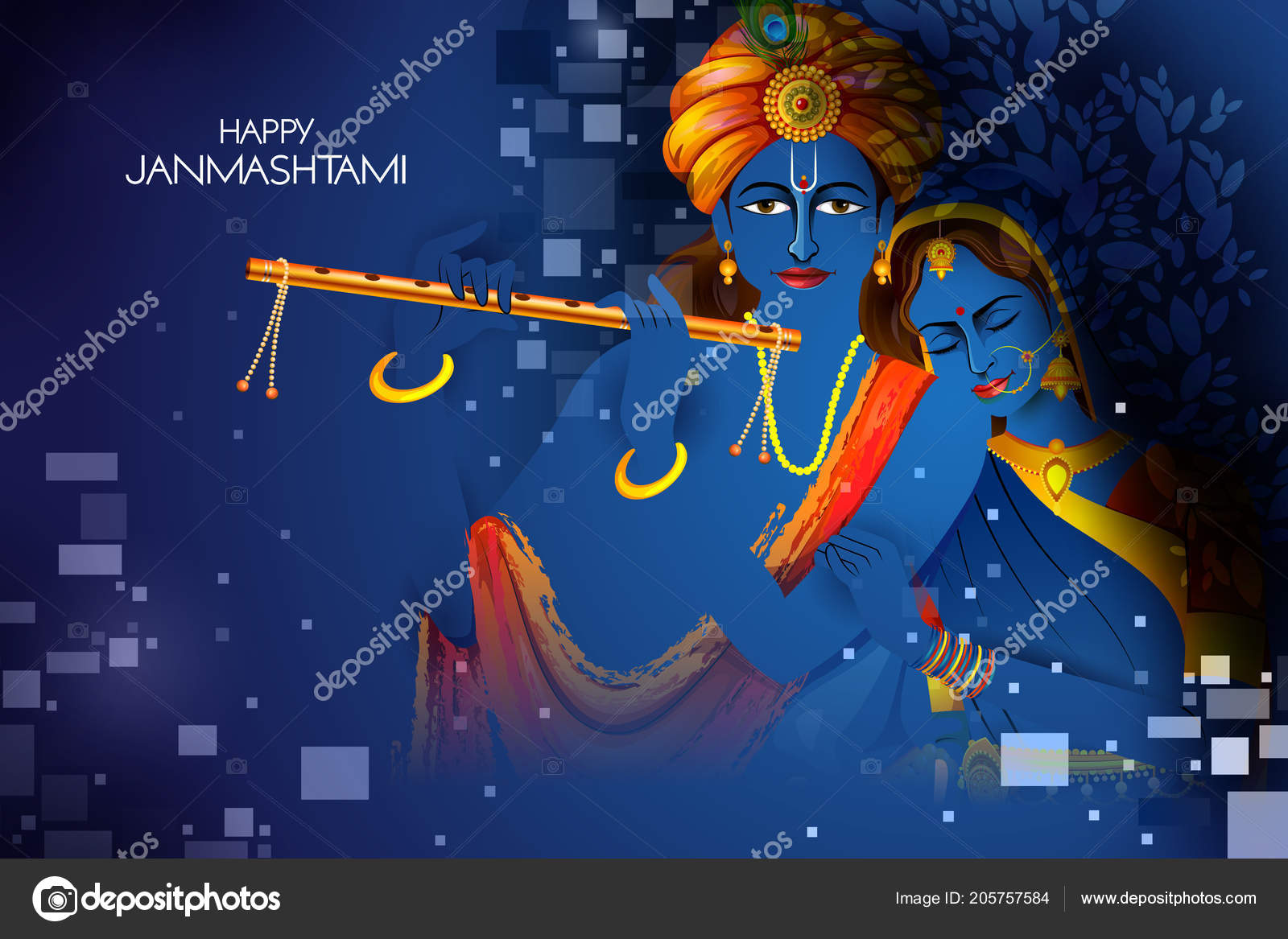 depositphotos 205757584 stock illustration lord krishna and radha playing