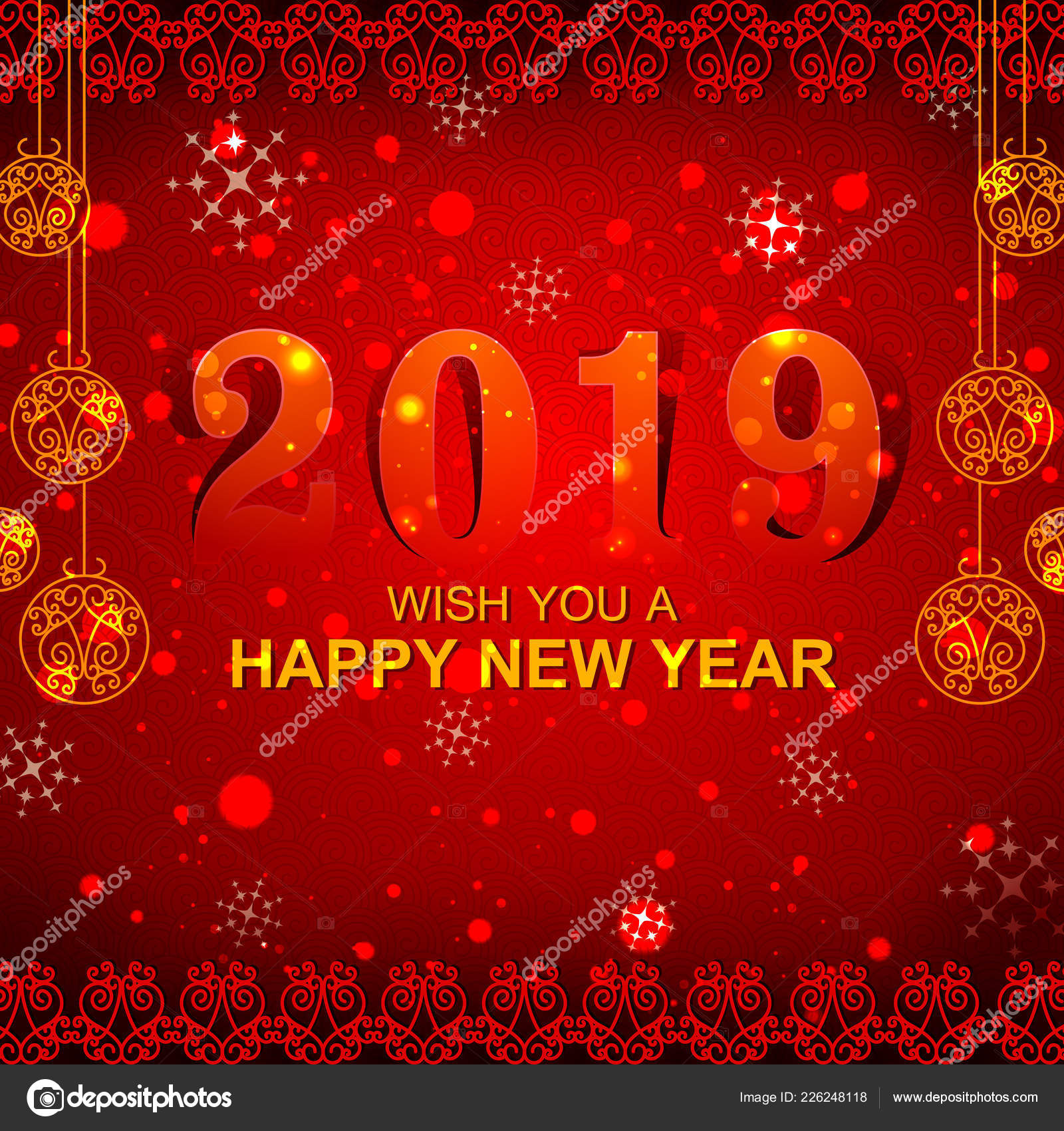 Happy New Year Editing Background 94