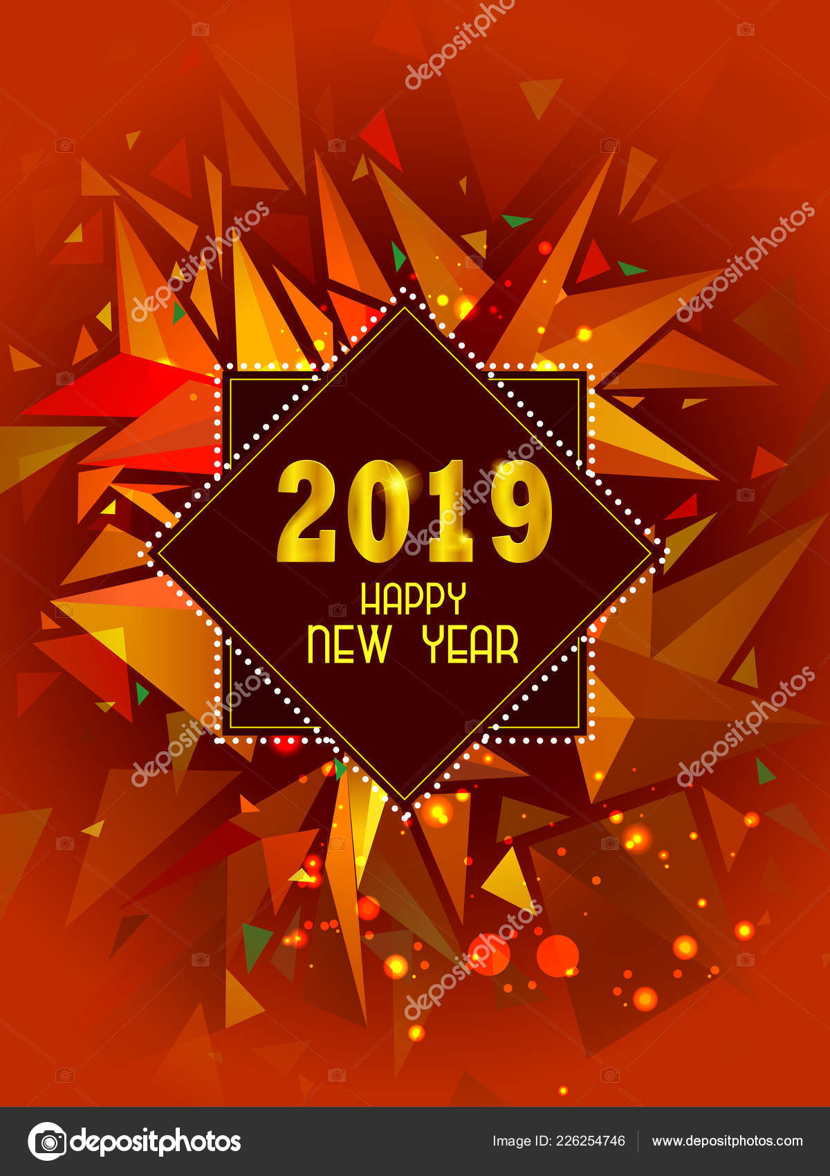 easy to edit vector illustration of happy new year 2019 wishes seasonal greeting background vector by snapgalleria