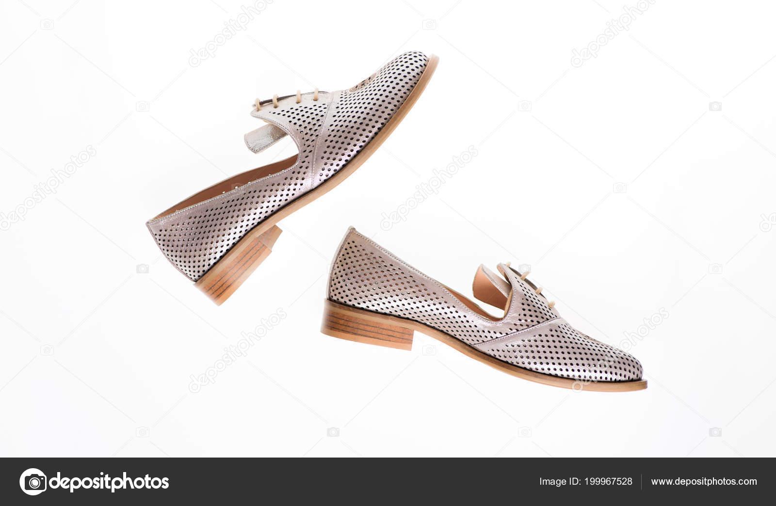 Schuhe Leder Weißem HintergrundIsoliertFür Auf Silber Y76gvbyf