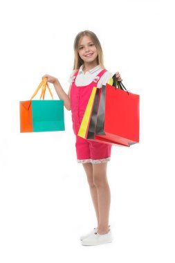 Participate in loyalty programs. Loyalty benefits. Why customers participate in loyalty programs.Girl cute teenager carries shopping bag. Kid bought clothing summer sale