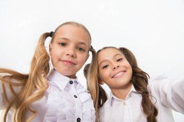 Happy little children smiling. Children grow so quickly. international childrens day