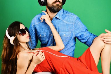 Pleasure, music and fun creative lifestyle concept. Music fans