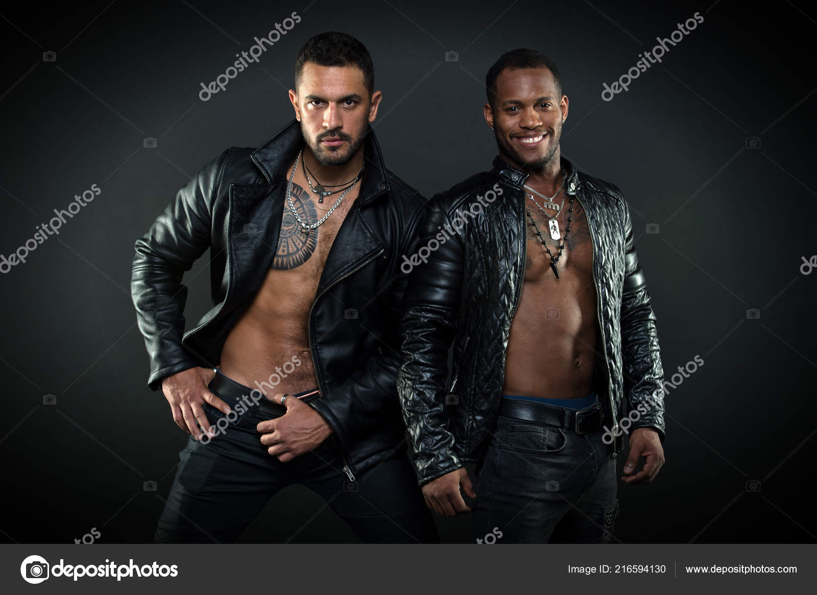 Leather muscle men