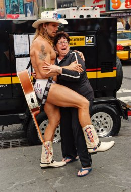Naked muscular cowboy macho in new york, usa