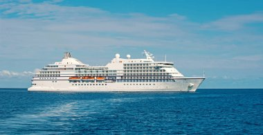 Big luxury cruise ship or liner