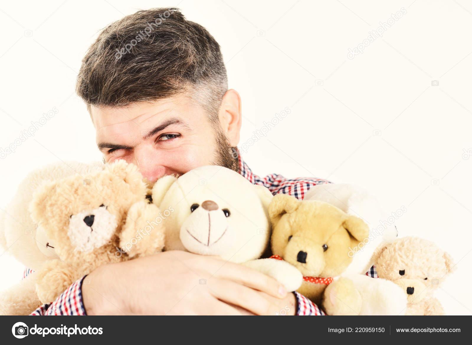 aggrappa Teddy si With a Macho Beard molti farciti Bears e Yy6g7bf