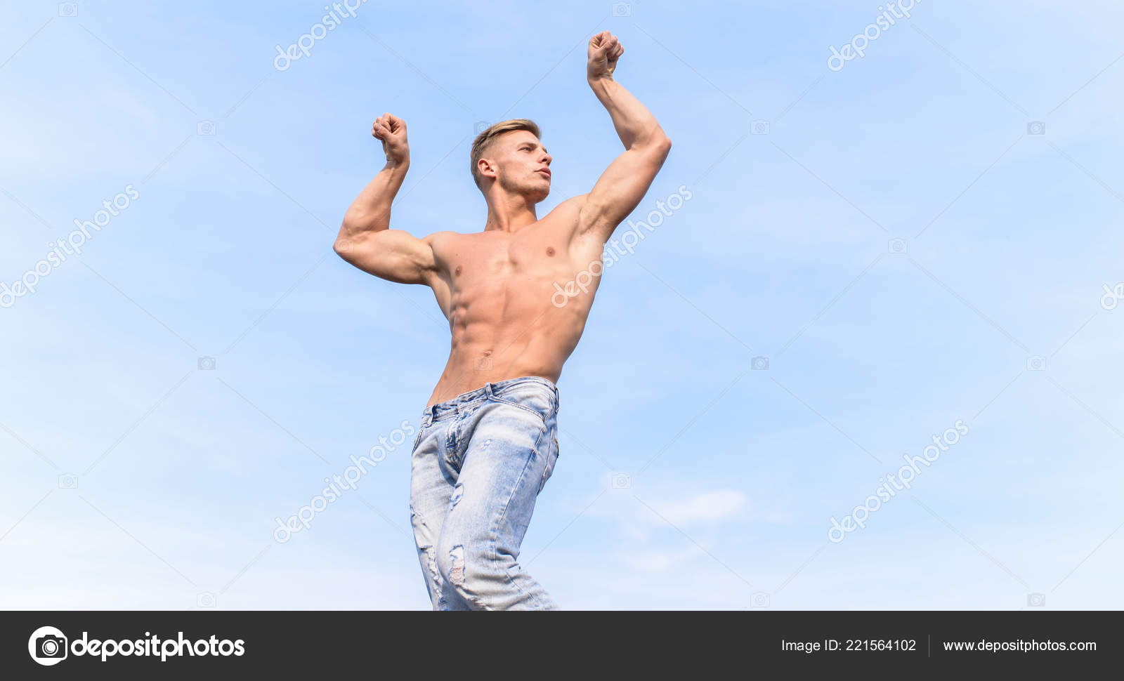 Men body show naked there