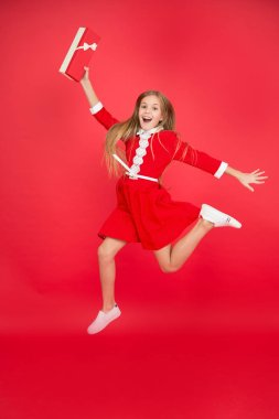 Birthday and christmas presents. big sale in shopping mall. International childrens day. small girl child with shopping bags. Happy shopping online. Incredible time while shopping. Modern girl