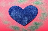 Dekorace srdce pozadí. Romantický zprávy valentines den. Láska symbol valentines. Valentinky den reklama. Krásné pozadí. Textury srdce zblízka. Oslav Svátek Valentines