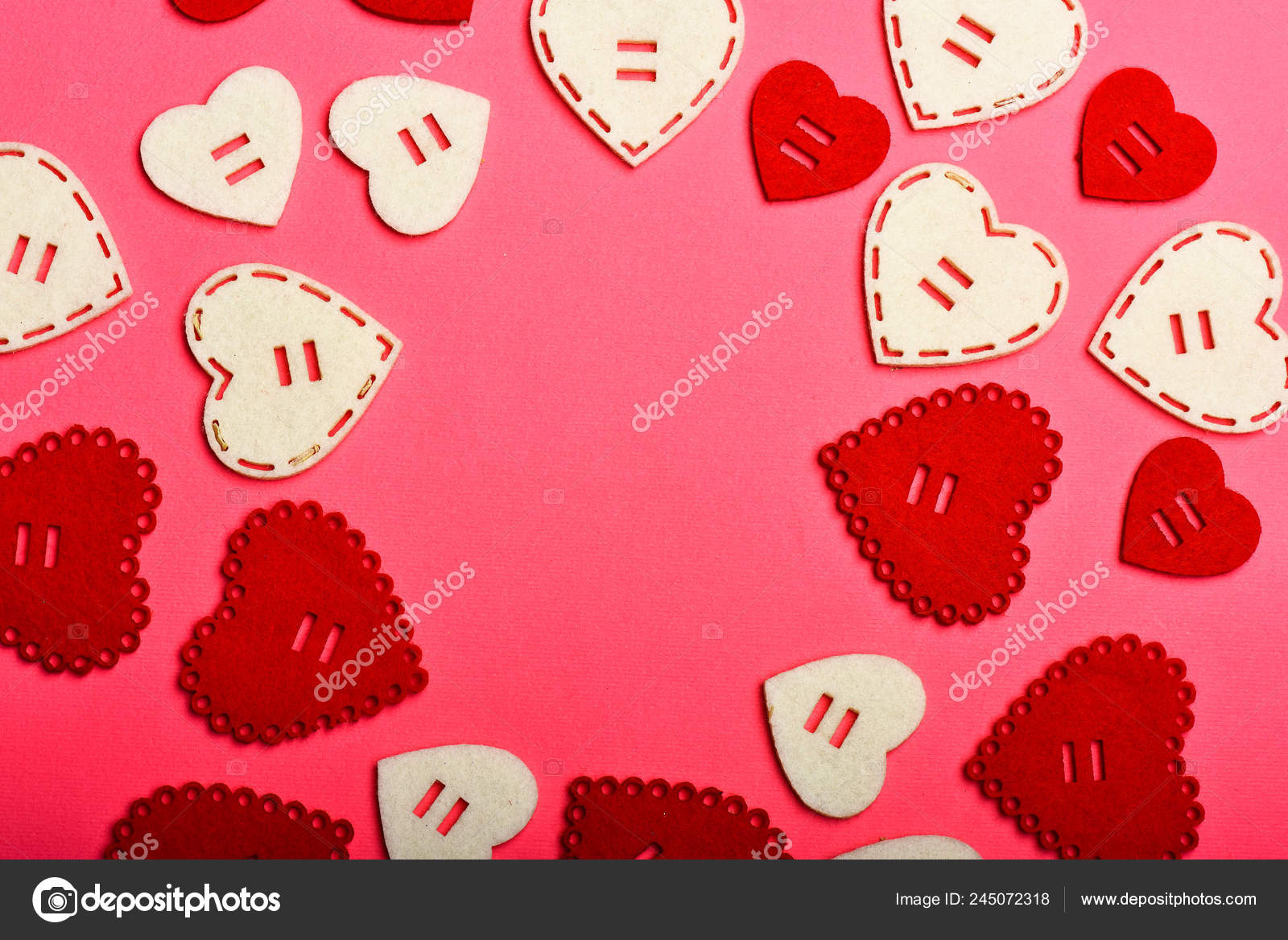 Valentines Day Advertisement Lovely Background Texture Hearts