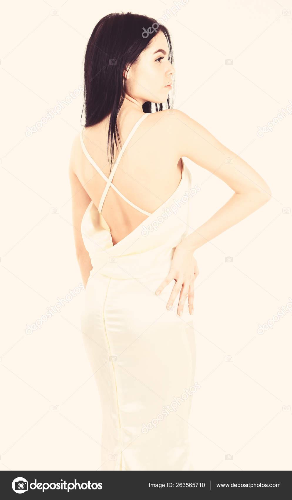 more photos 82808 93bc2 Concetto di matrimonio moda. Donna in vestito bianco ...
