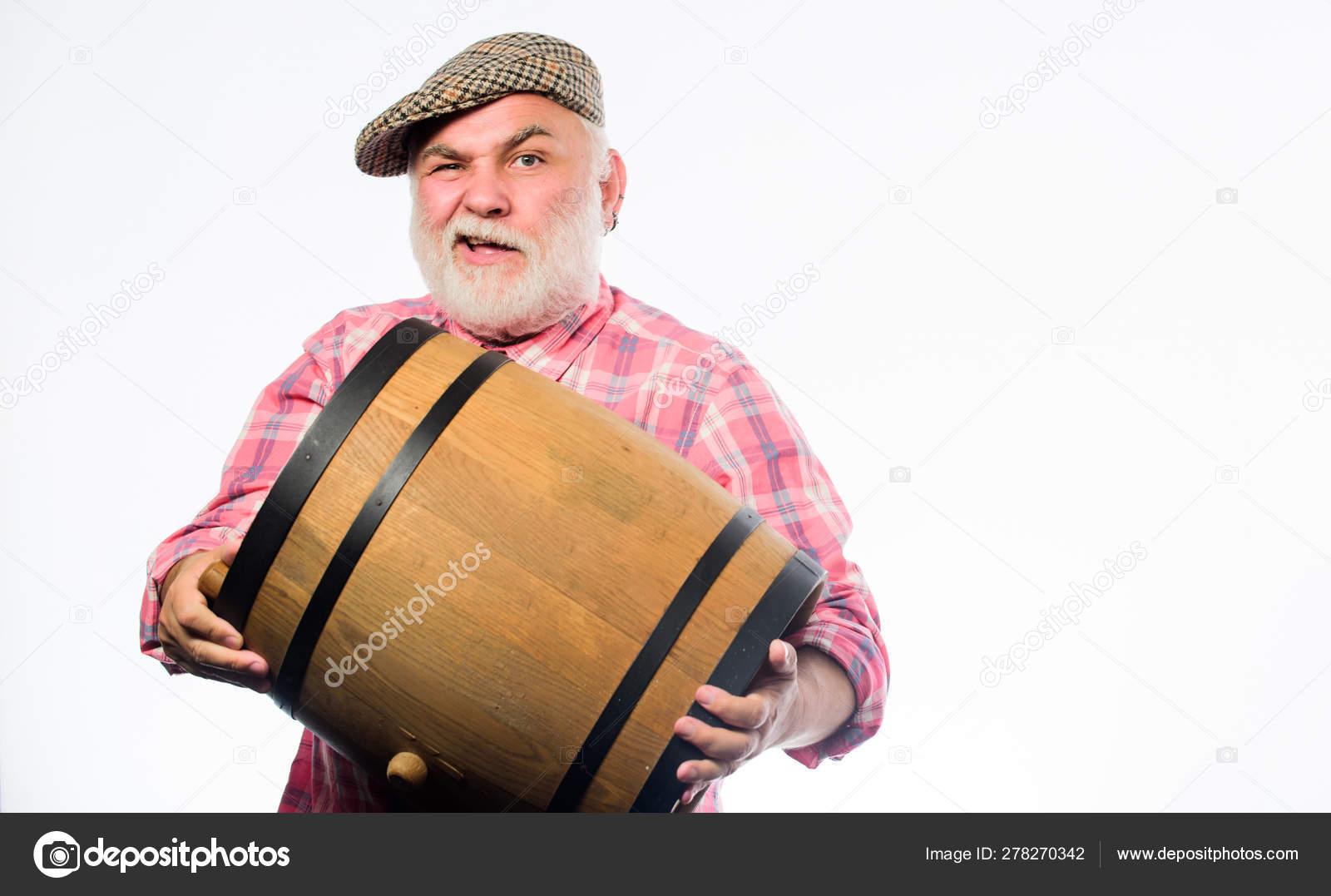 Festival D Oktoberfest Brasserie Pour La Maturation De L Alcool Du Vin Fait Maison Homme Barbu