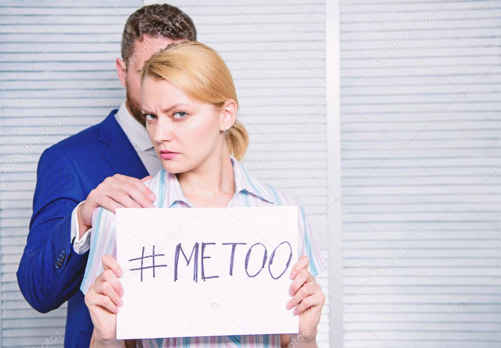 Sexual assault in the workplace stock image
