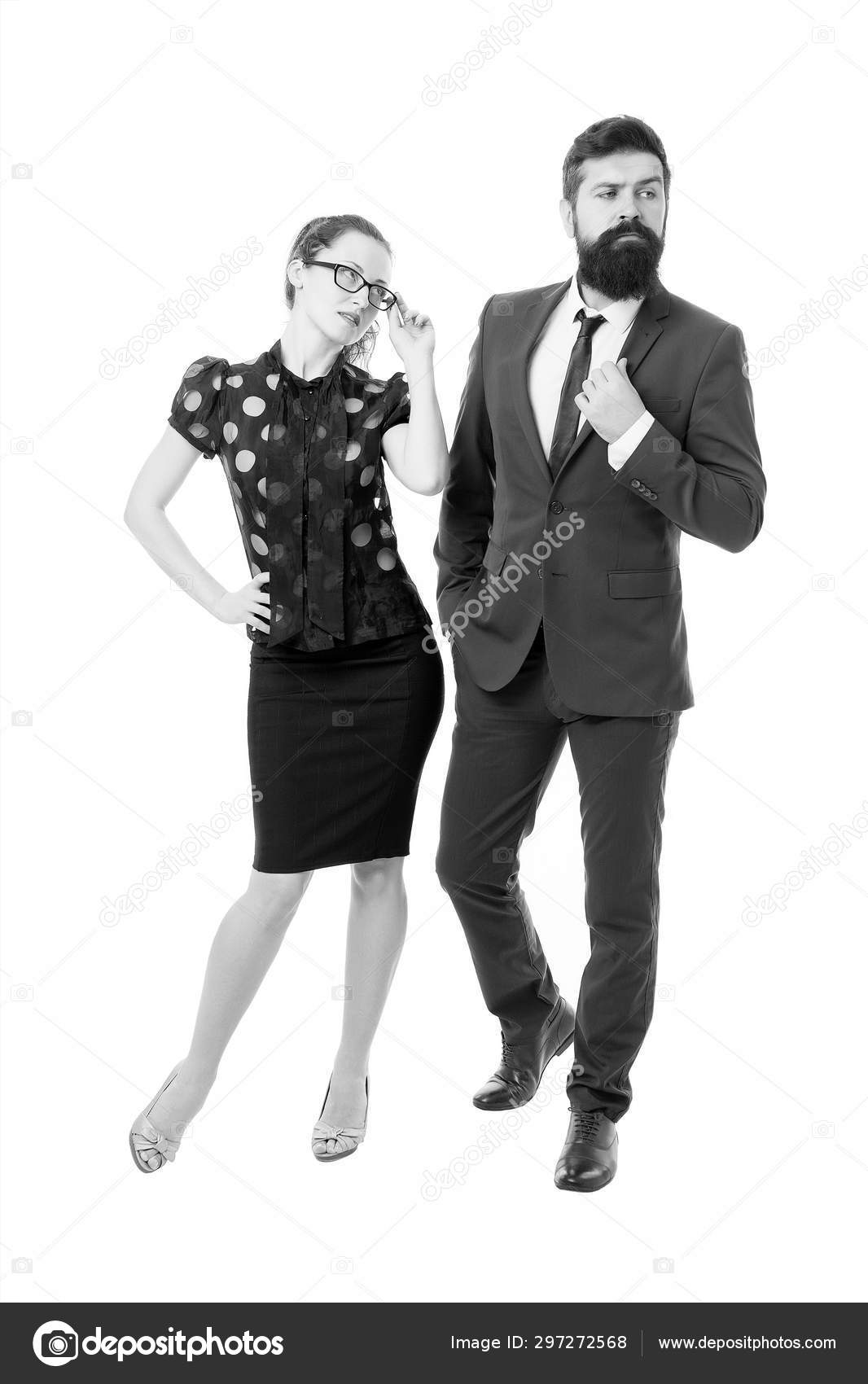 Sexy secretary and manager  Love concept  Man and woman