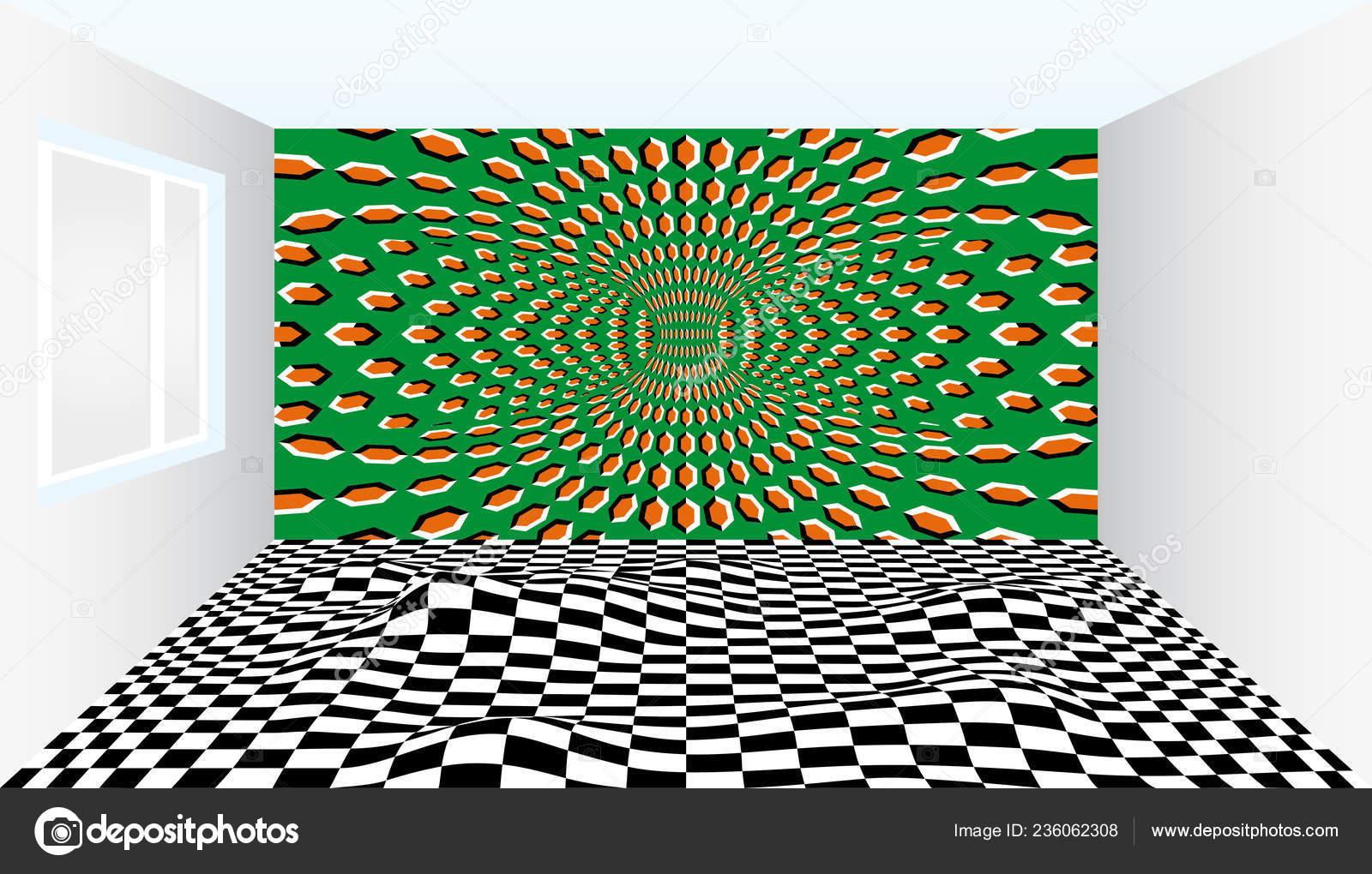 Der Saal Der Illusionen Zimmer Mit Optische Täuschung Herausragende
