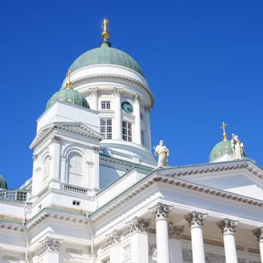 View on facade of Helsinki cathedral