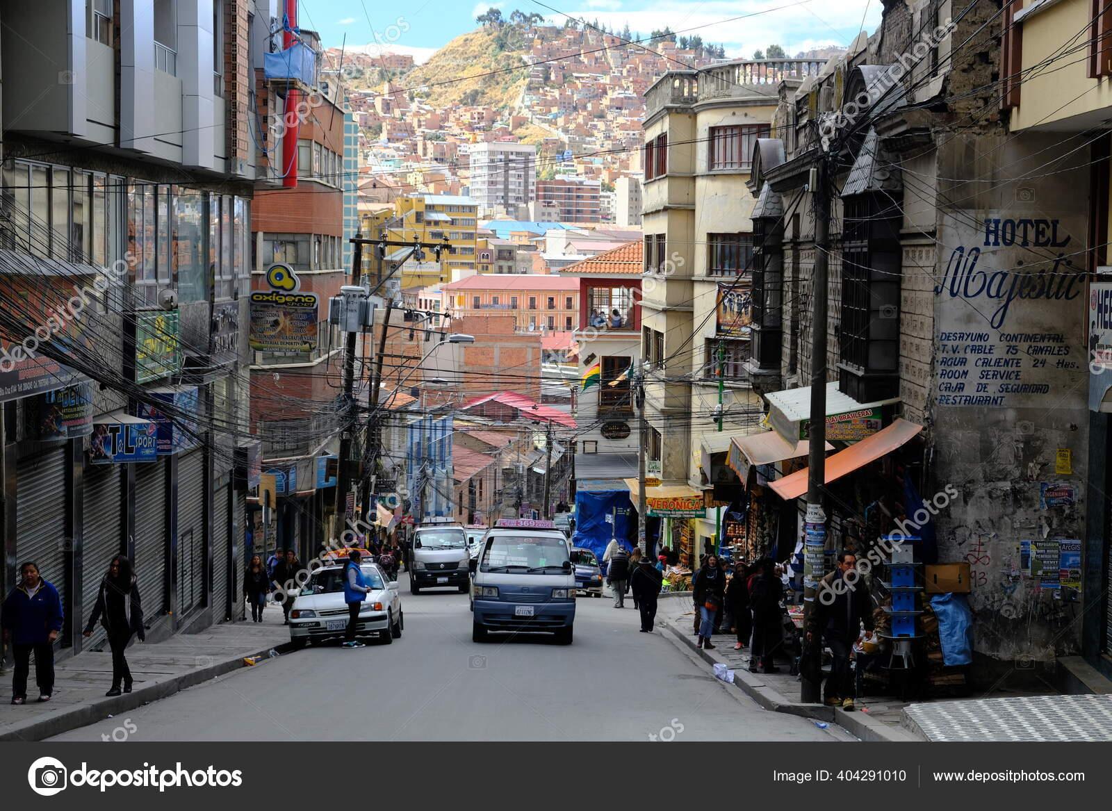 Bolívia Paz Vista Rua Santa Cruz Rua Fotografia De Stock Editorial Markobln Gmx De 404291010