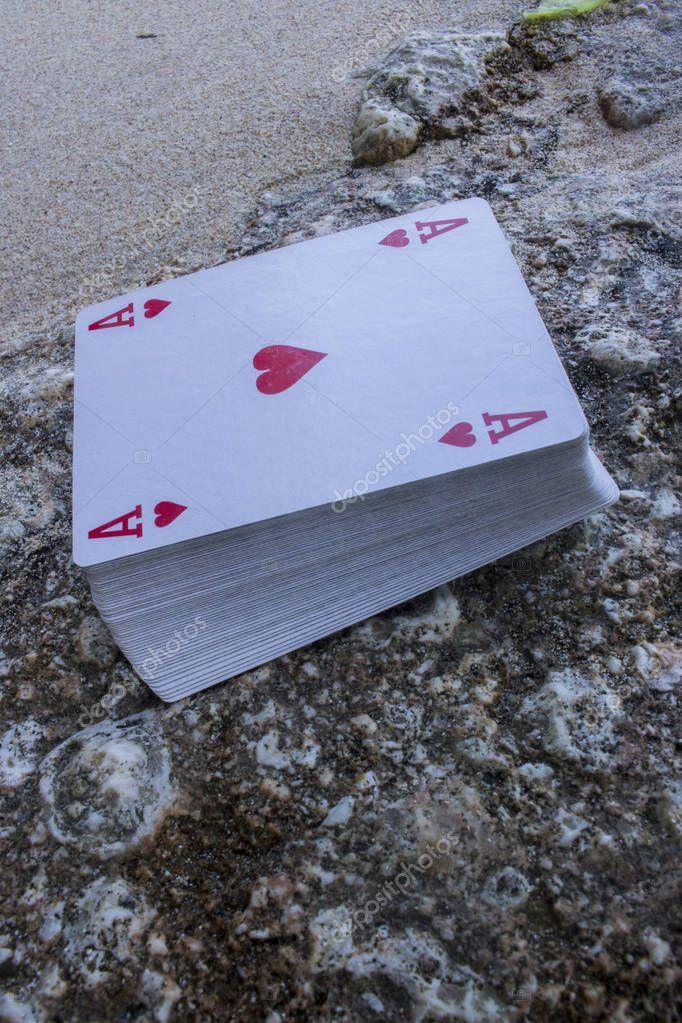 ace of heart poker card deck gamble theme