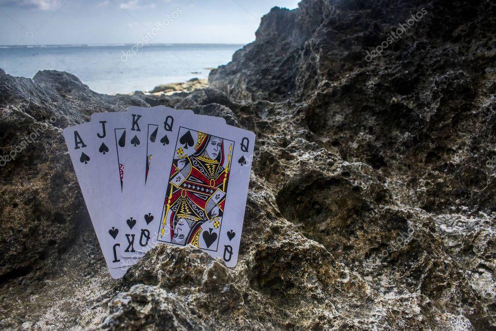 poker card gamble theme