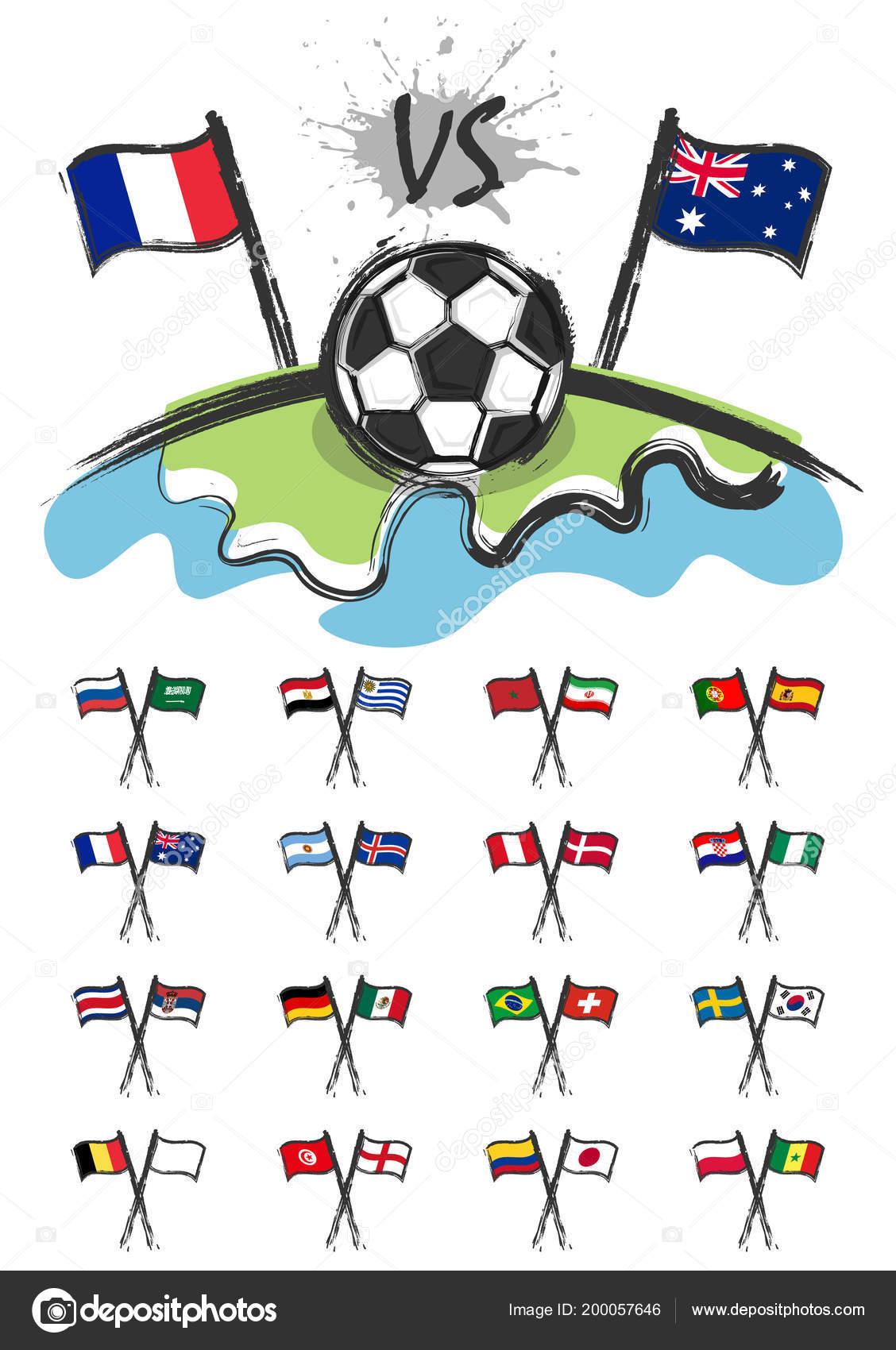 Fussball Auf Der Ganzen Welt Mit Der Fussball