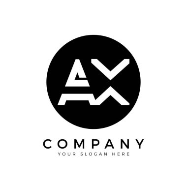 AX Logo Design Business Typography Vector Template. Creative Linked Letter AX Logo Template. AX Font Type Logo