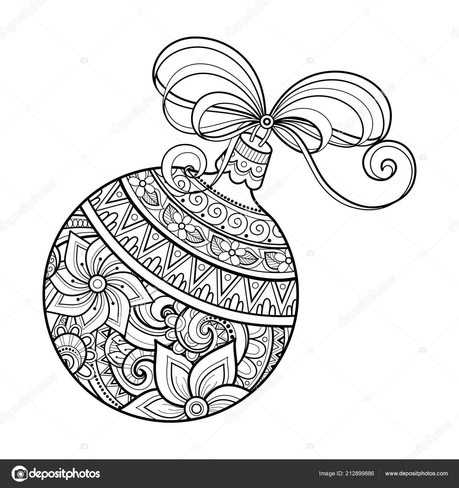 Decorazione Natale Ornato Monocromatico Felice Anno Nuovo Sfera Con