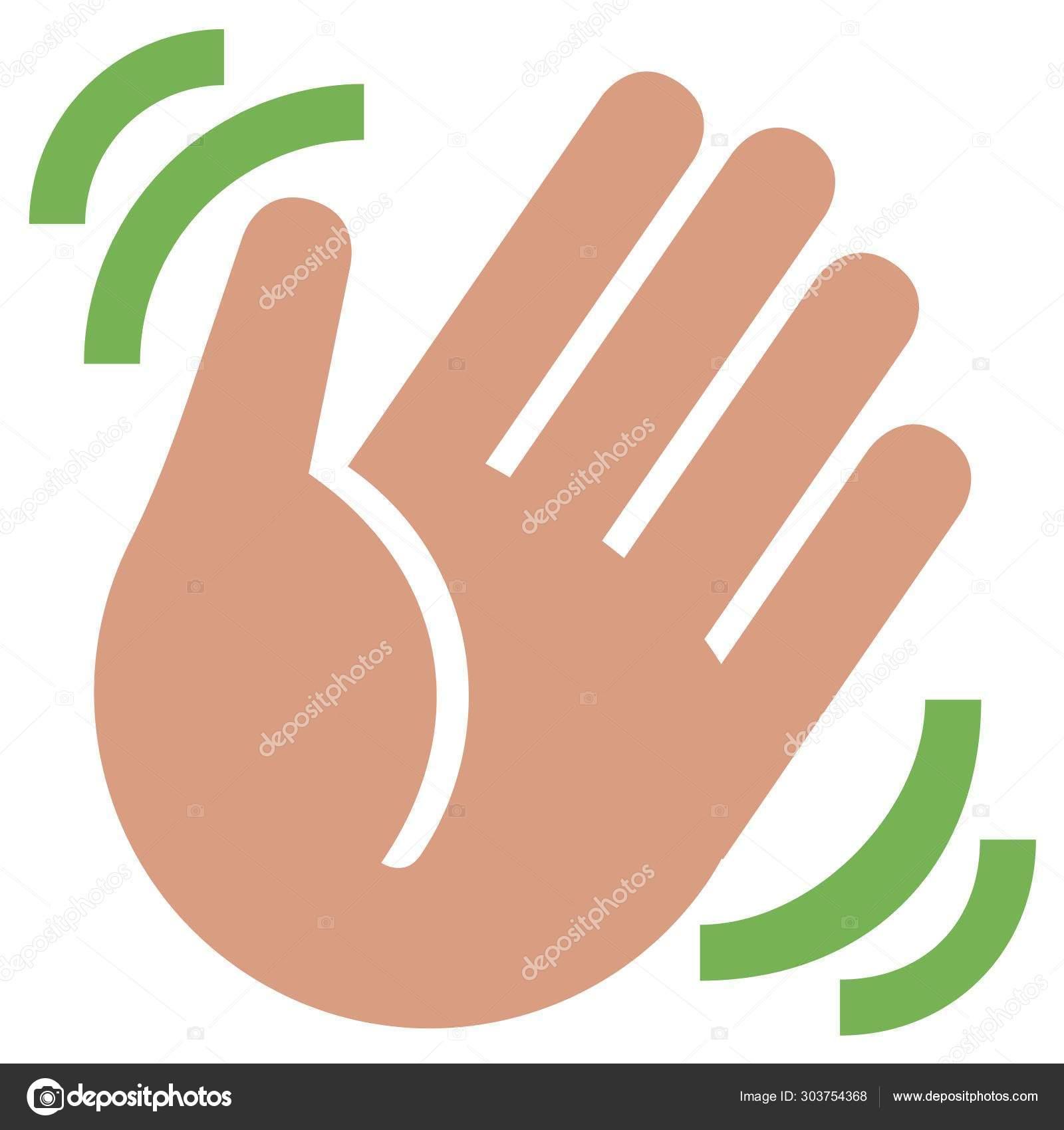 hand waving clipart - 900×900