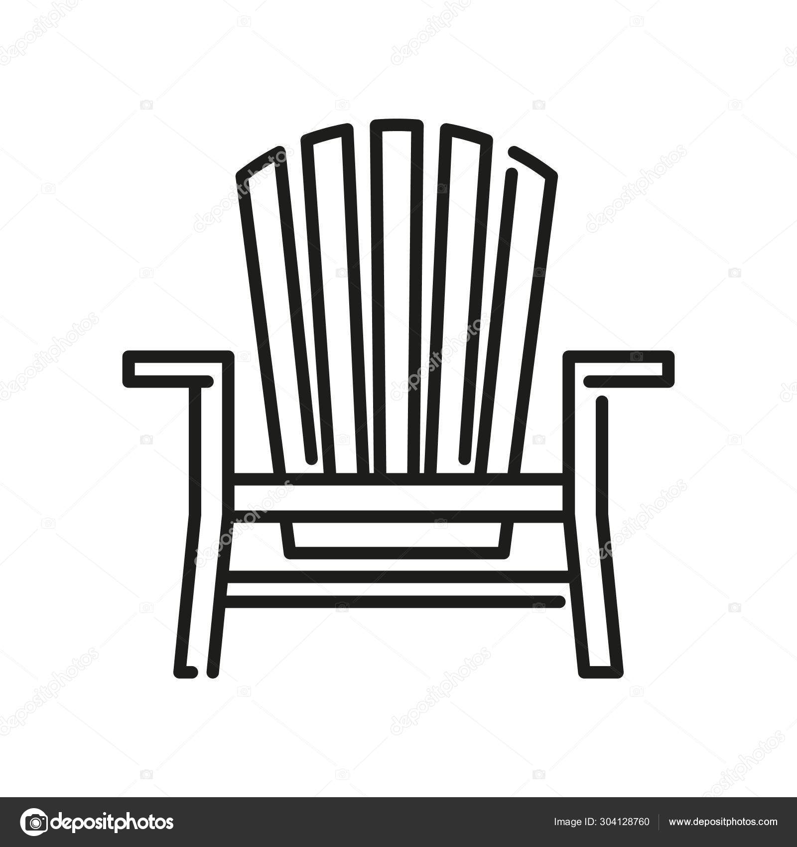 ᐈ Muskoka chair silhouette stock vectors, Royalty Free ...