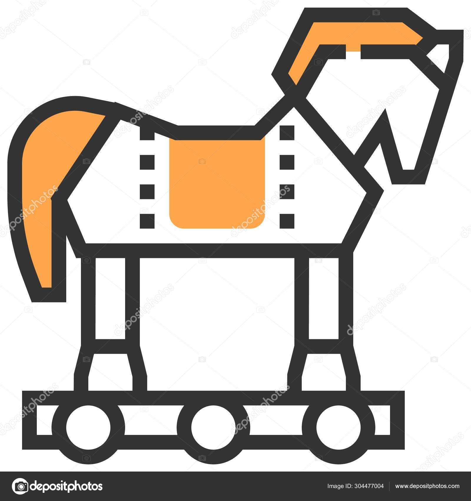 Trojan Horse Web Icon Stock Vector C Iconscout 304477004
