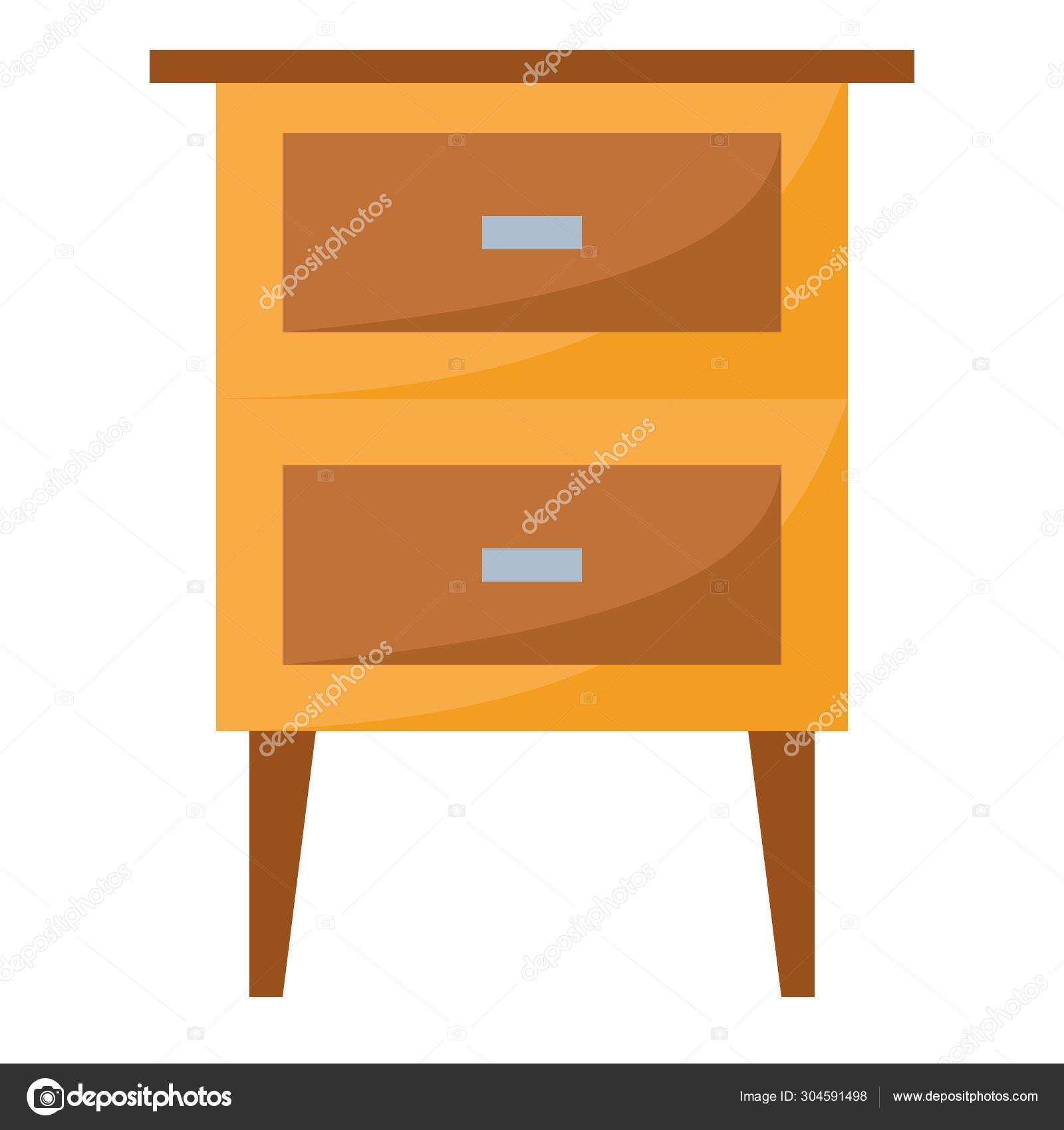 Bed Side Table Simple Design Stock Vector C Iconscout 304591498