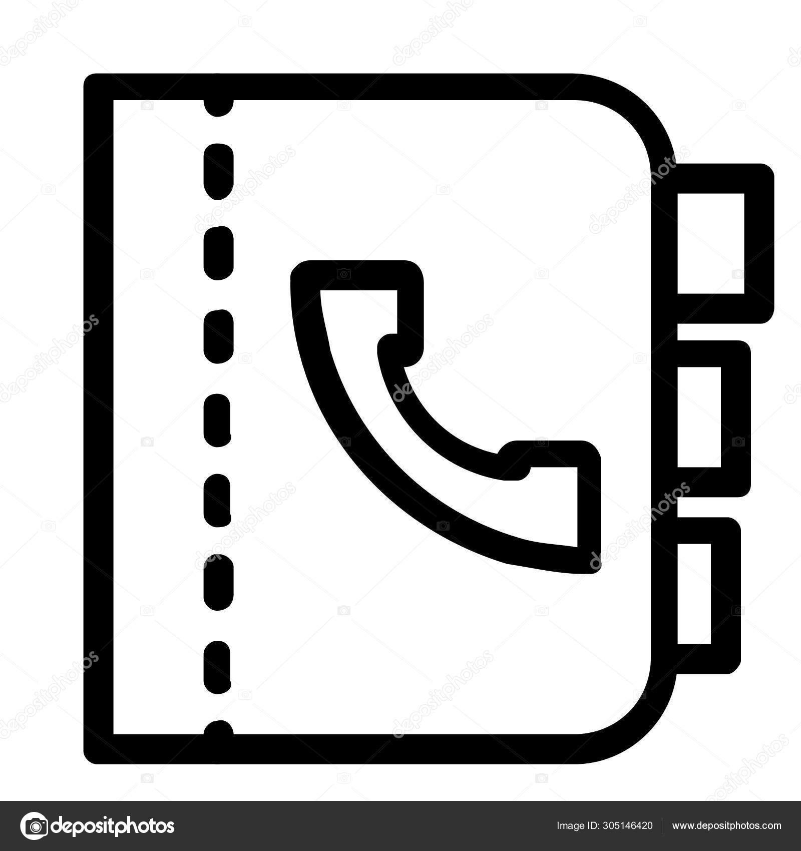 Kontaktbuch Einfache Illustration Vektorgrafik Lizenzfreie Grafiken C Iconscout 305146420 Depositphotos