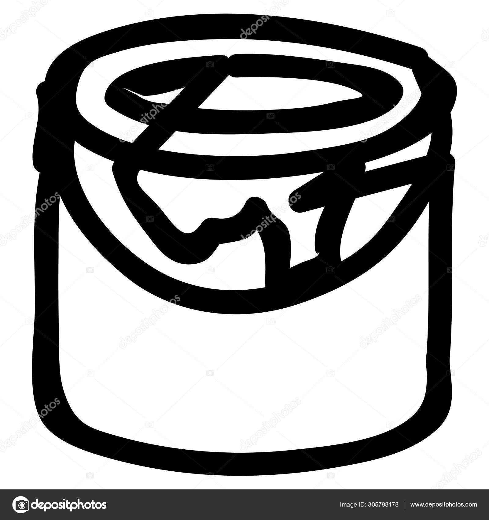 Paint Bucket Simple Design Stock Vector C Iconscout 305798178