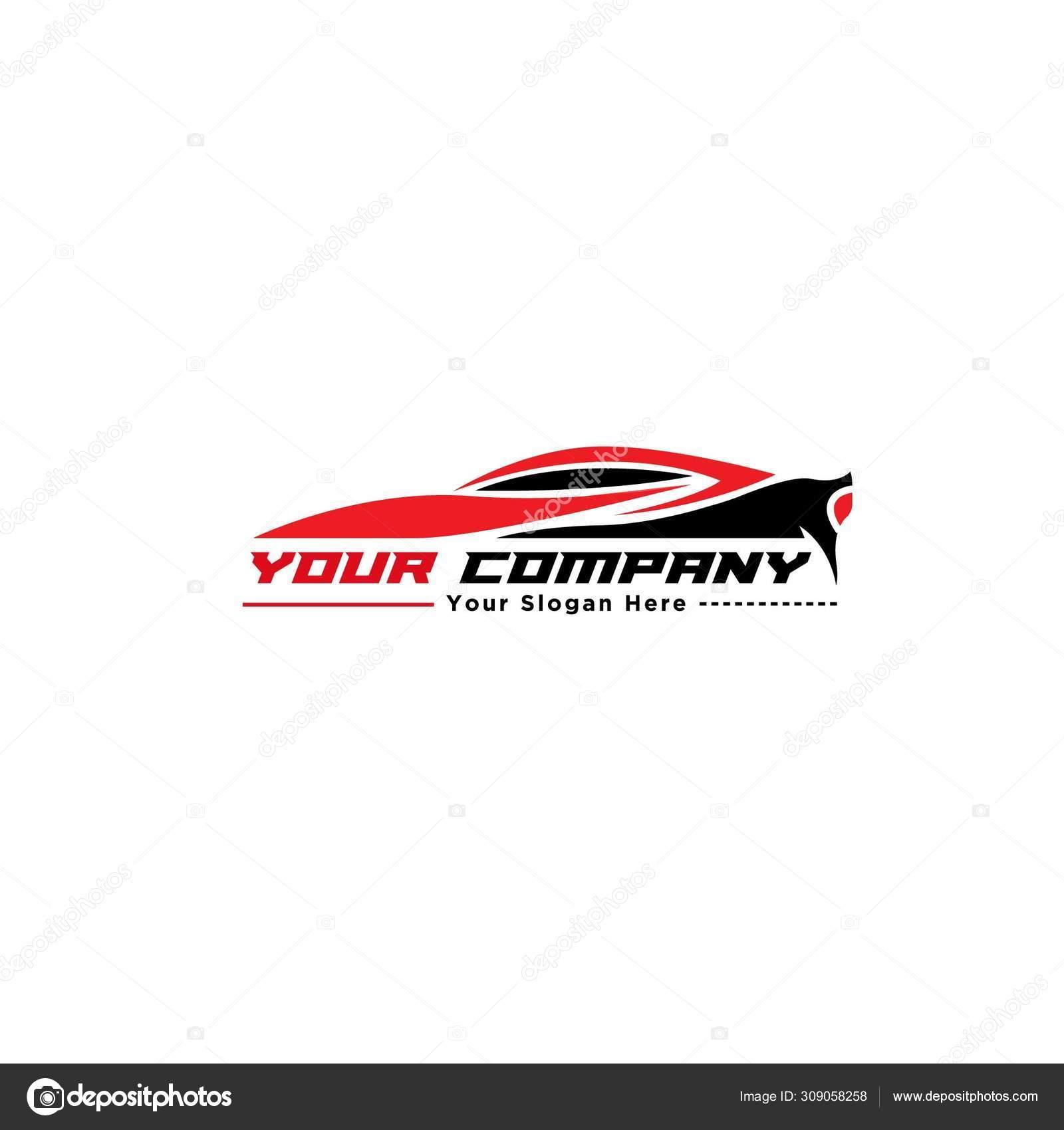Red And Black Sport Car Logo Design Silhouette Stock Vector C Saferizen 309058258