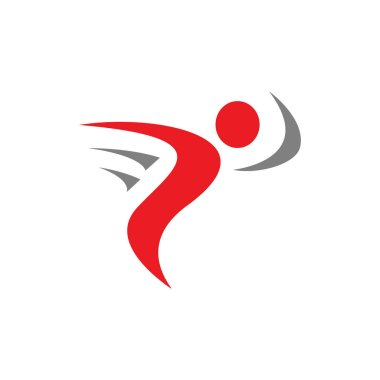 Fitness Abstract Running People Logo design vector Elements