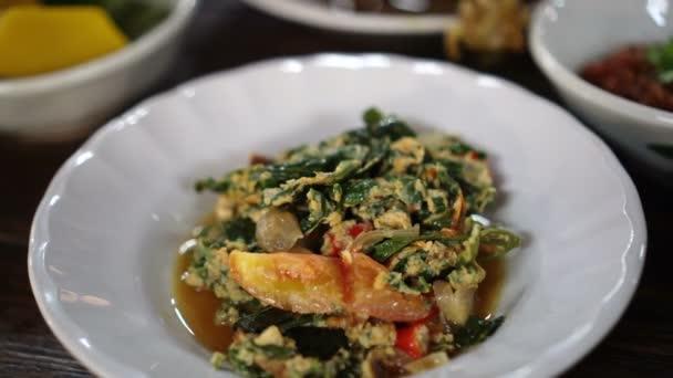 Észak-thai élelmiszer beállítása tábla videóinak 4k
