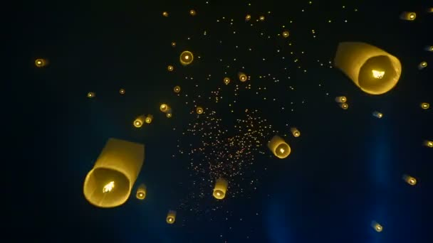 Chiang Mai, Thajsko Loy Krathong Yi Peng festival, masové Lucerna vydání Hd
