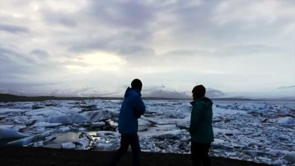 Timelapse Tourist Glacier Lagoon Iceland