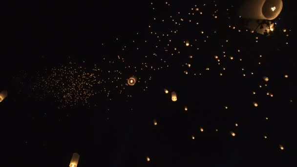 Thailand Festival Night Sky With Thousand Of Lanterns Yi Peng