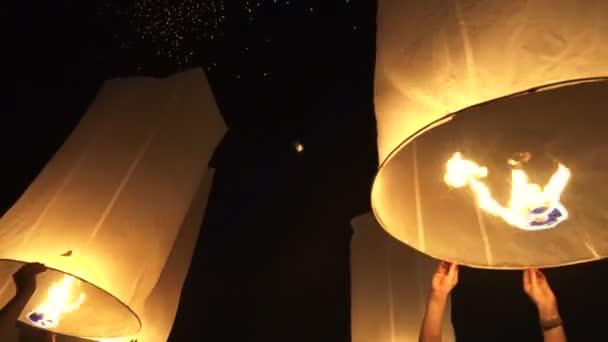 Yi Peng Lanterns Release Loy Krathong Festival Of Thailand