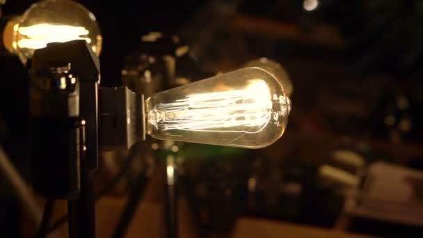 Vintage Styles Light Bulbs Decorate At Night