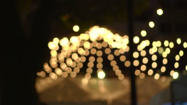 Blur fesztivál fények Garland esemény éjjel