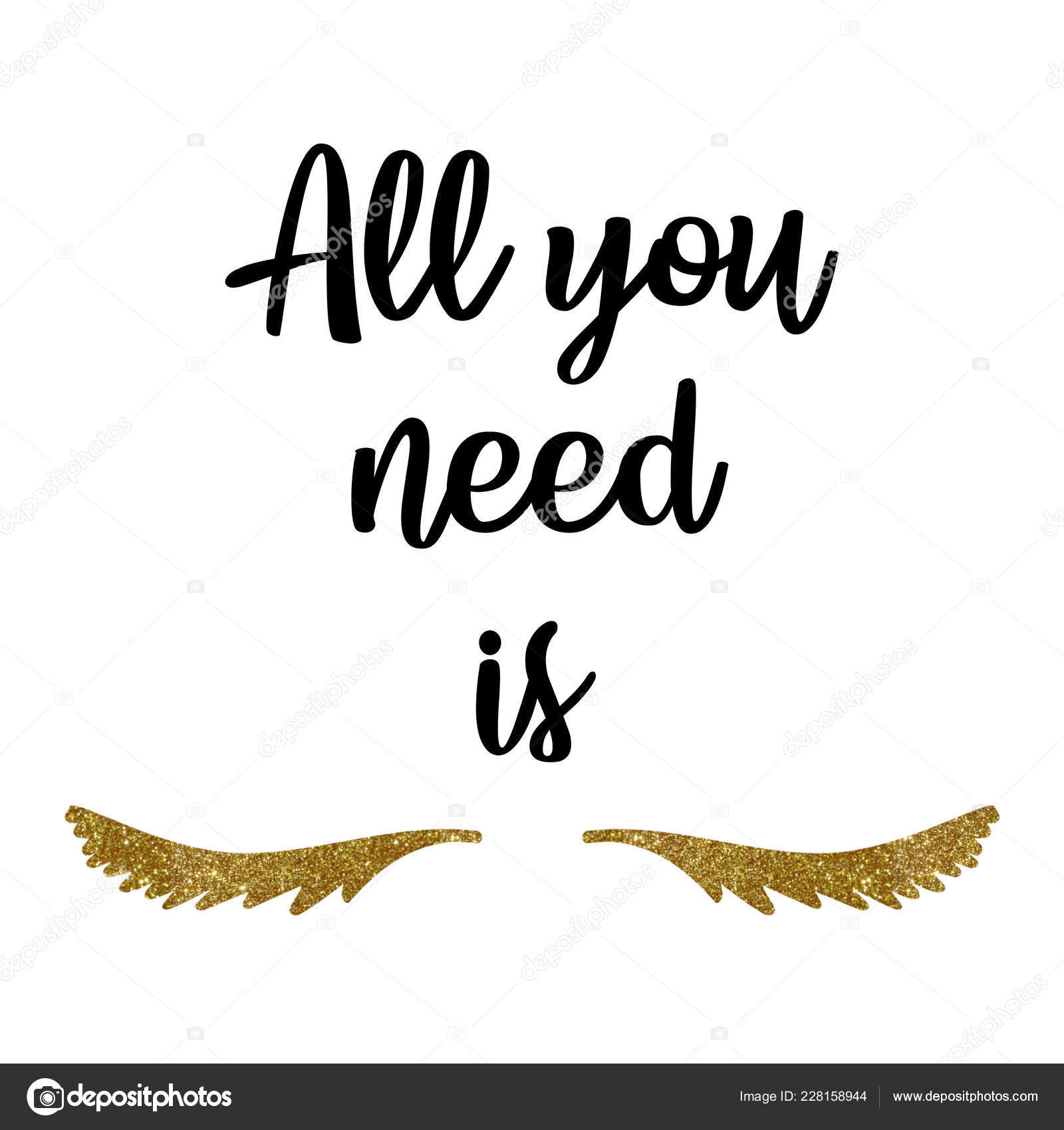 Lash Makers Lashes Quote Calligraphy Phrase All You Need Lash